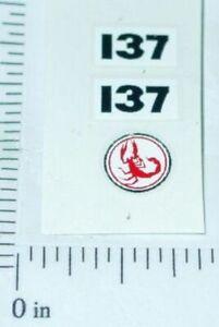 Matchbox #7 Hairy Hustler Scorpion Stickers     SF-7B2