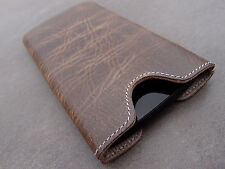 HTC One Mini (M4) Leather Phone Case Brown Case Wallet Cover Wish Engravings
