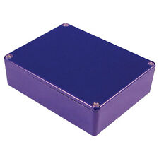 Aluminio Stomp Box Caja 145x121x39 Azul Efectos Guitarra Pedal proyecto