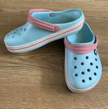 CROCS Sky Blue  UK  Kids Size13 casual clogs beach garden sandals