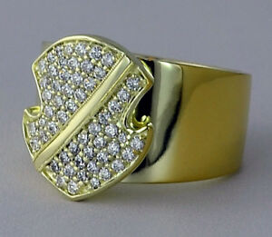 Black Friday1.27ct NATURAL DIAMOND 14K SOLID YELLOWGOLD SHIELD BAND RING FOR MEN