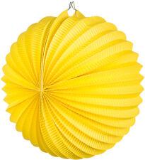 Lampion Papier Lanterne 23cm JAUNE NEUF - accessoires fête décoration carnaval
