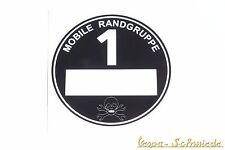 """Aufkleber """"Mobile Randgruppe"""" - Schwarz Feinstaub Plakette Diesel Auto Oldtimer"""
