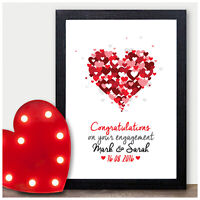 PERSONALISED Engagement Gifts Keepsake Prints Engagement Presents for Fiance