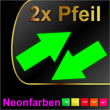 Pfeil Aufkleber - 2 Stück - NEON...