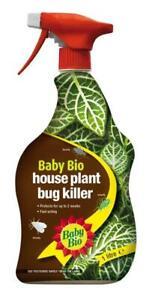 Baby Bio House Plant Insecticide Bug Killer 1L Spray Pest Control Hydroponics