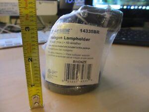 Halogen Lampholder Sigma Electric 14335BR bronze 75 watt all weather for fixture