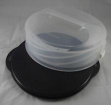 Tupperware C 167 Tortentwist Tortenbehälter höhenverstellbar Schwarz / Weiß Neu