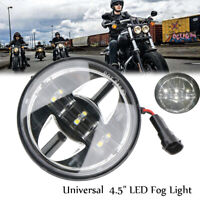 """Chrom 4.5"""" LED Nebelscheinwerfer Zusatzscheinwerfer Tagfahrlicht für Harley"""