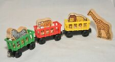 CIRCUS TRAINS and 4 ANIMALS / Thomas & Friends Wooden Railway 2003 / VGUC