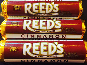 Reed's Cinnamon is BACK! 3pk Classic Hard Candy Rolls FREE SHIPPING
