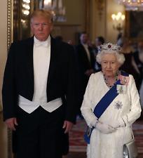 President Donald Trump Queen Elizabeth 8x10 photo State Banquet Tuxedo Picture