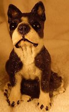 Dog Figurine/Bank BOSTON TERRIER MOM/PUP Sitting/Laying Resin VERY NICE ADORABLE