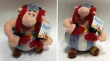 "ASTERIX OBELIX PELUCHE 20 CM SOFT PLUSH 8"" ORIGINAL BY UDERZO"