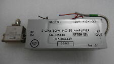 HARRIS FARINON 2GHz LOW NOISE AMPLIFIER ASSEMBLY SD-106448 , 076-106449