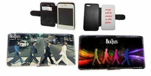 Beatles Abbey Road faux leather phone case for Samsung iPhone Xperia