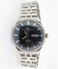 .Auth BALL Trainmaster Eternity NM2080D-SJ-BK Back dial Day Date Auto Watch