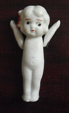 "Vintage 1930s Bisque Baby Girl Doll with Jointed Arms 2 3/4"" Tall"