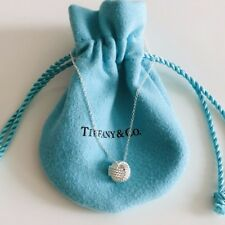 "Tiffany & Co Sterling Silver Knot Pendant Necklace 16"" / Authentic NEW"