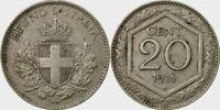 REGNO D'ITALIA - VITTORIO EMANUELE III° - RARA MONETA DA 20 CENTESIMI - 1918 - R