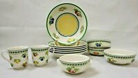VILLEROY & BOCH 12PC.Set French Garden Fleurence Country Collection anno 1748
