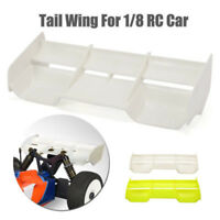 1PC Plastic Rear Wing White For 1:8 Buggy RC Drift Car Off Road Body Spoiler