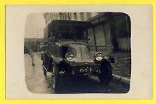 cpa Carte Postale Photo vers 1900 VOITURE AUTOMOBILE FOURGONNETTE à Identifier