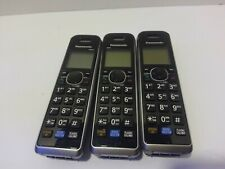 3X Panasonic KX-TGA680S Cordless Telephone Expansion Handset Phone