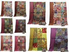 10 PC Lot Kantha Quilt Twin Size Bedspread Indian Patchwork Cotton Throw Bedding