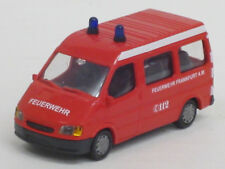 "Ford Transit Bus in rot ""Feuerwehr Frankfurt 112"", o. OVP, Rietze, 1:87"