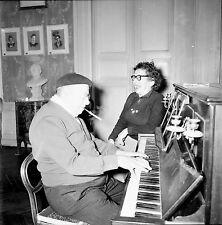 RIS ORANGIS c.1955 - Fondation Dranem Au Piano - Négatif 6 x 6 - N6 IDF26