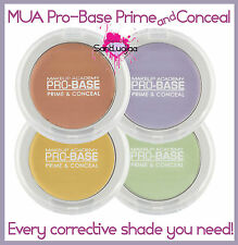 MUA MAKEUP ACADEMY PRO-BASE PRIME AND CONCEAL CONCEALER CORRECTIVE YELLOW GREEN