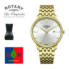 Rotary GB03105/06 Men's Gold Plated Stainless Steel Bracelet Watch RRP £70