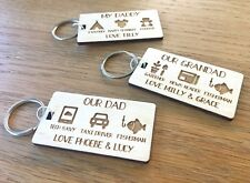Personalised Gifts For Him Dad Daddy Grandad Uncle Papa Grampy Men Keyring Gift