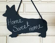 Pembroke Welsh Corgi Dog Handmade Chalkboard Shadow Blackboard w/chalk & Eraser