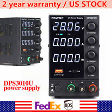 4 Digital 0 30v 0 10a Dc Power Supply Precision Variable Digital Adjustable 110v