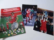 More details for liverpool fc legend phil thompson 1983 testimonial programme & photographs set