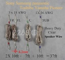 4c speaker cable/wire 37ft made for 4.2mm sony/samsung/Panasonic Home theater