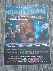 IRON MAIDEN - 2008 AUSTRALIA Tour - Laminated Promo Tour Poster - UNIQUE - NEW