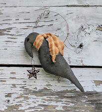 Handmade Fall Primitive Crow Wall/Peg Shelf Hanger