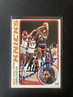 1978-79 Topps Basketball #66 Lonnie Shelton Auto Autographed New York Knicks