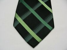 CROFT & BARROW - BLACK & GREEN - 100% SILK NECK TIE!