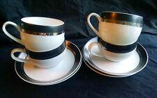 MIKASA CHINA PIVOTAL BEN SIEBEL MONTINA 8 PC SET 4 COFFEE CUPS +SAUCERS A++