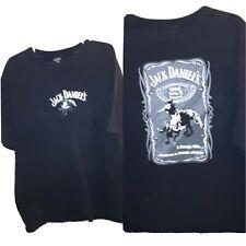 Jack Daniels T-shirt Mens Cowboy rodeo Bronco rider 2 Xl 48 X 29