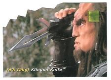 1995-96 30 Years of Star Trek Die-Cut Technology #D1 Klingon Knife
