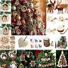 Christmas Tree 3D Wooden Pendants DIY Hanging Decoration Xmas Home Party Decor