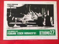 Studio 27 1/20 Ferrari 126CK Monaco GP '81 (FK2008) Villeneuve