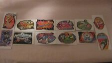 Rare Collectible Saban's Power Rangers 12 Piece Vending Sticker Set 1999    t302