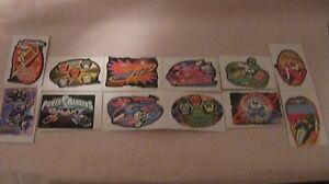 Rare de Collection Saban Power Rangers 12 Pièce Vendeuse Sticker Set 1999 t302