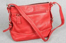 Tiganello Small Red Pebbled Leather Shoulder Bag Crossbody EC